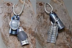 (in opdracht) Zilveren hanger met vingerafdruk