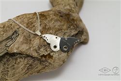 (In Opdracht) Zilveren vlinder met speld
