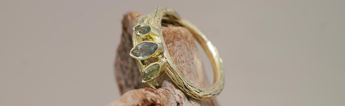 Handgemaakte ringen in goud en zilver
